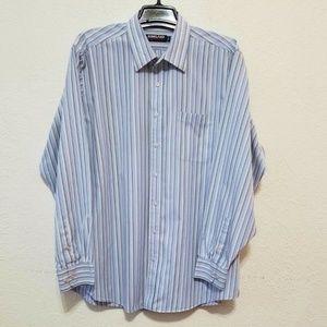 KIRKLAND SIGNITURE Mens Striped Dress Shirt
